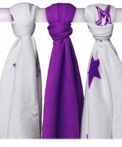 Muselina Stars Lilac 70x70 3und