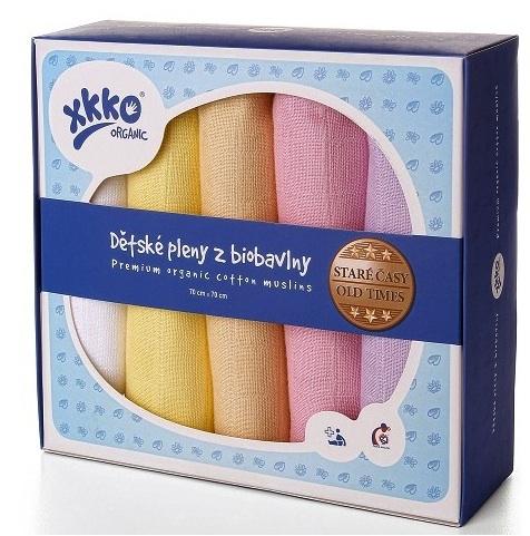 Muselina Algodon Organico Pastel Girl 70x70 5und